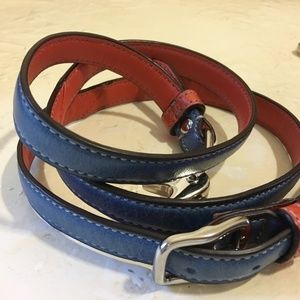 "COACH Blue Colorblock Leather 50"" Replacemnt Strap"